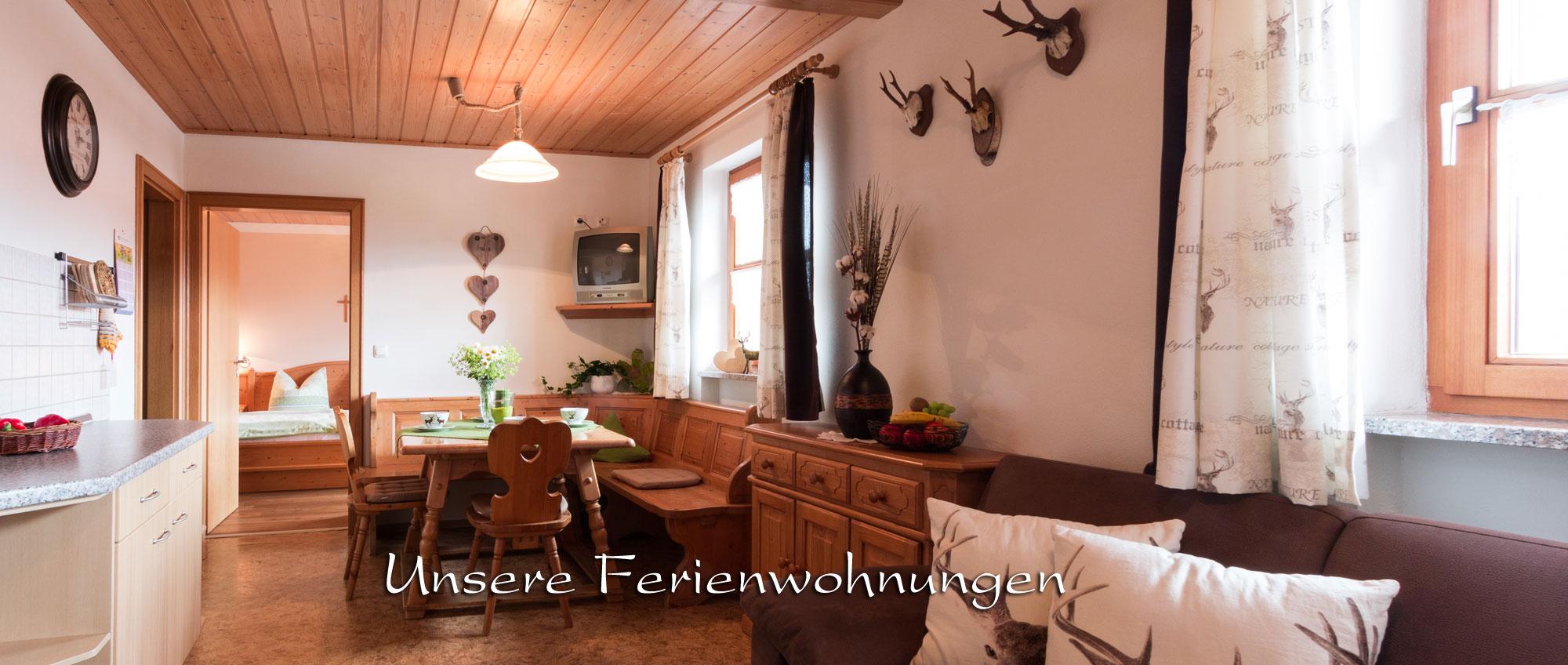 Ferienwohnungen am Bauernhof in Bayern