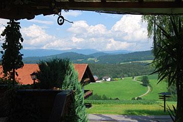 herrliche Aussicht in die Natur des Bayerischen Waldes